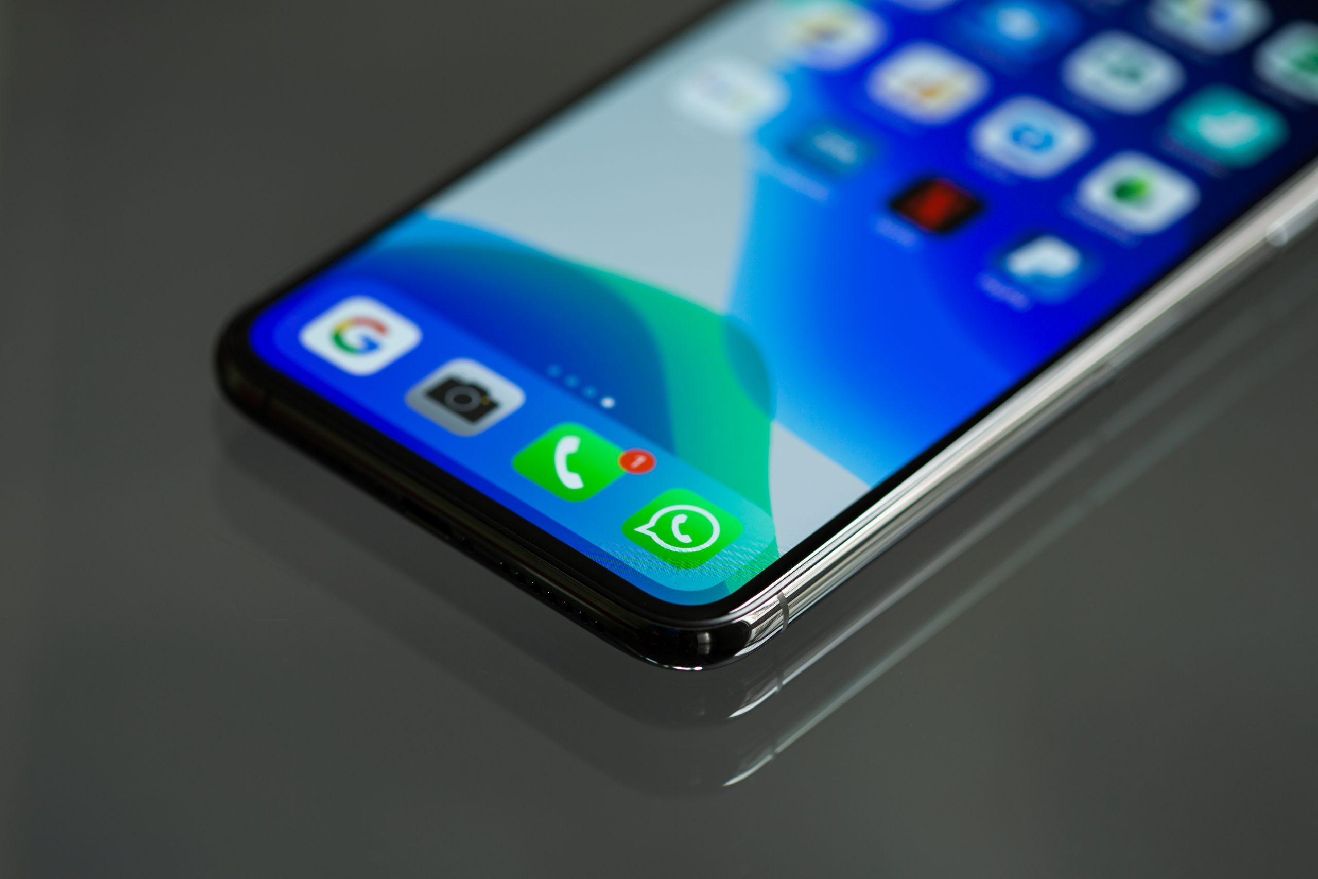 Close up photo of smartphone